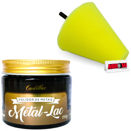Kit Polidor de Metais Cadillac Metal-Lac (150gr)