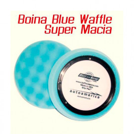Buff and Shine Boina de Espuma Super Macia Waffle Azul 7.5""